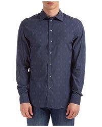 Emporio Armani Camicia uomo maniche lunghe - Blu