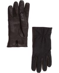 Emporio Armani Men's Leather Gloves - Black