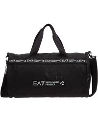 EA7 Men's Fitness Gym Sports Shoulder Bag - Black