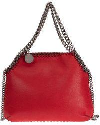 Stella McCartney Borsa donna a spalla shopping falabella mini - Rosso
