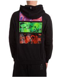McQ Men's Hoodie Sweatshirt Sweat Fantasma - Black