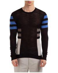 Rick Owens Men's Crew Neck Neckline Sweater Sweater Pullover - Black