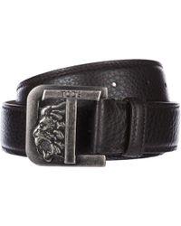 Tod's Men's Genuine Leather Belt - Black