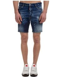 DSquared² Men's Shorts Bermuda Dean&dan - Blue