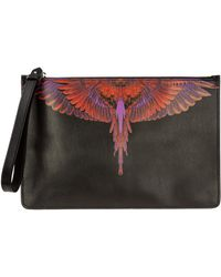 Marcelo Burlon Men's Briefcase Document Holder Wallet Wings - Black