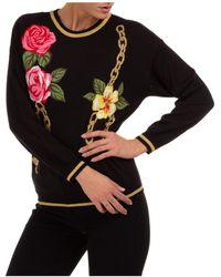Boutique Moschino Maglione maglia donna girocollo - Nero