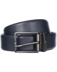 Emporio Armani - Adjustable Length Reversible Leather Belt - Lyst