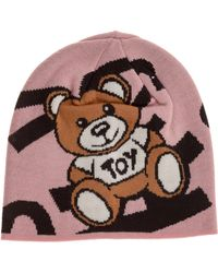 Moschino Women's Beanie Hat Teddy - Multicolor