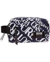 Versace Jeans Beauty case viaggio uomo in nylon - Blu