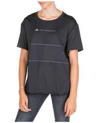 adidas By Stella McCartney T-shirt maglia maniche corte girocollo donna - Nero