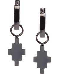 Marcelo Burlon Earrings Men Cross - Black