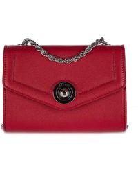 d''Este Women's Clutch With Shoulder Strap Handbag Bag Purse Antibes - Red