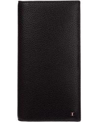 Bally Men's Wallet Leather Coin Case Holder Purse Card Bifold Galiro - Black