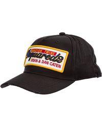 DSquared² Cappello berretto regolabile uomo in cotone - Nero