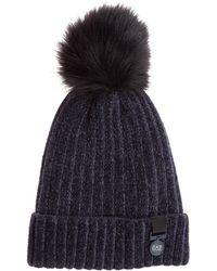 EA7 Women's Beanie Hat - Blue