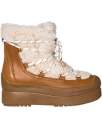 Tory Burch - Leather Ankle Boots Booties Courtney - Lyst