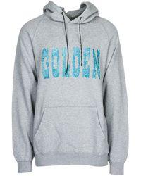 Golden Goose Deluxe Brand Men's Hoodie Sweatshirt Sweat Philip - Gray
