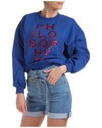 Philosophy Di Lorenzo Serafini Women's Sweatshirt - Blue