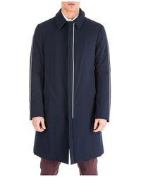 Emporio Armani Coat Overcoat - Blue