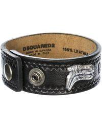 DSquared² Bracciale braccialetto uomo in pelle hippie cowboy rodeo boy - Multicolore