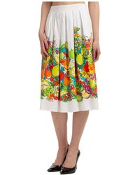 Boutique Moschino Women's Skirt Knee Length Midi Fresh Fruits - Multicolour