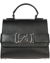 Alberta Ferretti Women's Leather Handbag Shopping Bag Purse - Black