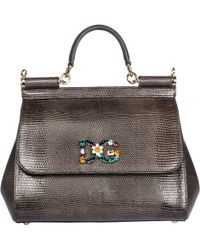 232a6de493c6 Dolce   Gabbana - Leather Handbag Shopping Bag Purse Sicily - Lyst