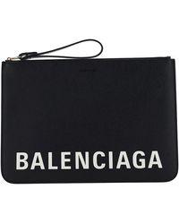 Balenciaga - Women's Leather Clutch Handbag Bag Purse - Lyst