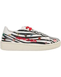 MOA Women's Shoes Leather Trainers Trainers - Multicolour