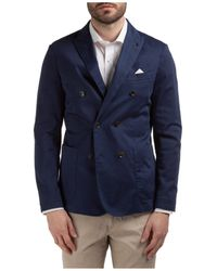 AT.P.CO Men's Double Breasted Jacket Blazer Vevo - Blue