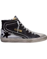 Golden Goose Shoes Leather Trainers Trainers Slide - Black