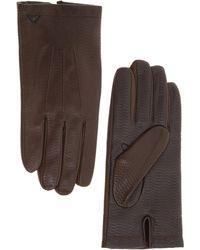 Emporio Armani Men's Gloves - Brown