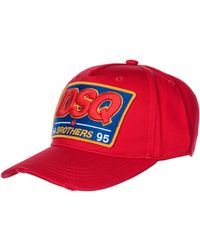 DSquared² Adjustable Hat Baseball Cap Dsq Brothers - Red
