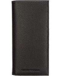 Emporio Armani Men's Wallet Leather Coin Case Holder Purse Card Bifold - Black