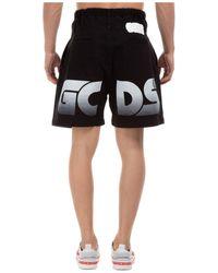 Gcds Men's Shorts Bermuda Lobby Boy - Black