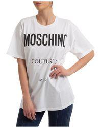 Moschino T-shirt maglia maniche corte girocollo donna - Multicolore