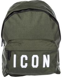 DSquared² Men's Rucksack Backpack Travel Icon - Green