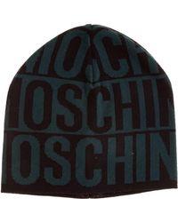 Moschino Men's Beanie Hat - Blue