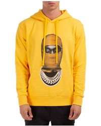 ih nom uh nit Men's Hoodie Sweatshirt Sweat Mask20 - Yellow