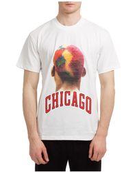 ih nom uh nit Men's Short Sleeve T-shirt Crew Neckline Sweater Chicago Player - White