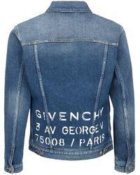 Givenchy Men's Denim Outerwear Jacket Blouson - Blue