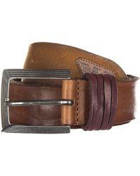Armani Jeans Genuine Leather Belt Ardiglione - Brown