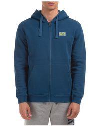 EA7 Men's Sweatshirt With Zip Sweat - Blue
