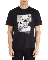 Neil Barrett T-shirt Bulldog-Man con stampa - Nero