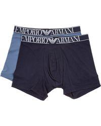 Emporio Armani Intimo boxer uomo bipack - Blu