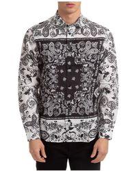 Versace Jeans Couture Men's Long Sleeve Shirt Dress Shirt - White