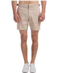 Michael Kors Men's Shorts Bermuda - Natural