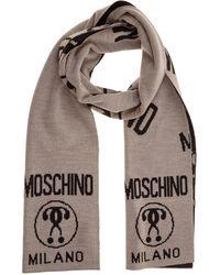 Moschino Sciarpa uomo double question mark - Neutro