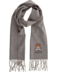 Moschino Men's Scarf Teddy - Gray