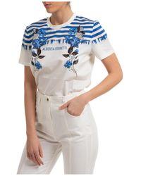 Alberta Ferretti T-shirt maglia maniche corte girocollo donna - Blu